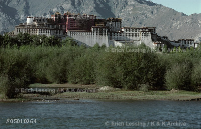 Potala Palace in Lhasa, Tibet; residence of the Dalai  