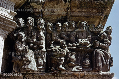 Calvary of Pleyben, Brittany. Crucifixion statues