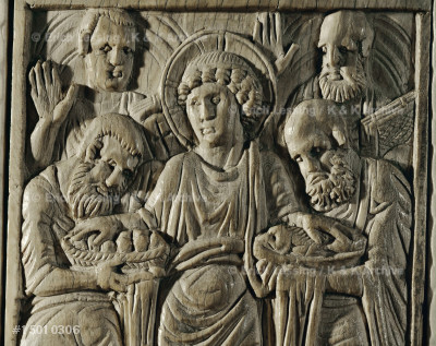 """The Multiplication of bread and fish"".                