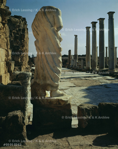Roman forum in Salamis, Cyprus.