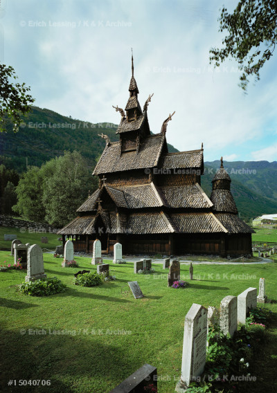 Borgund stave church, Sogn, Norway.