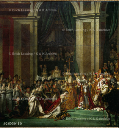 The coronation of Napoleon I (1769-1821) by Pope       