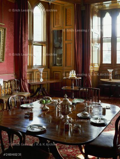 Breakfast room,Alnwick Castle,Northumberland.