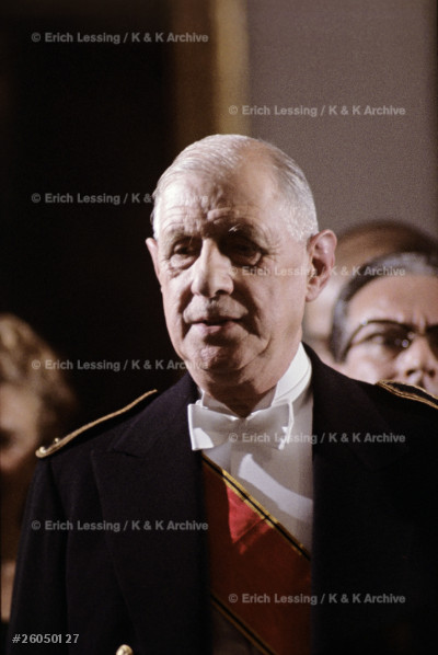French President General Charles de Gaulle.