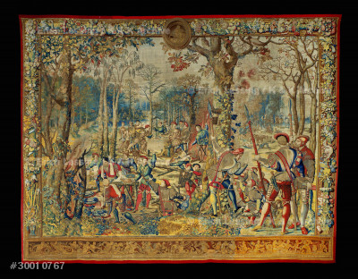 "Tapestry ""The Hunts of Maximilian"",one of twelve.      