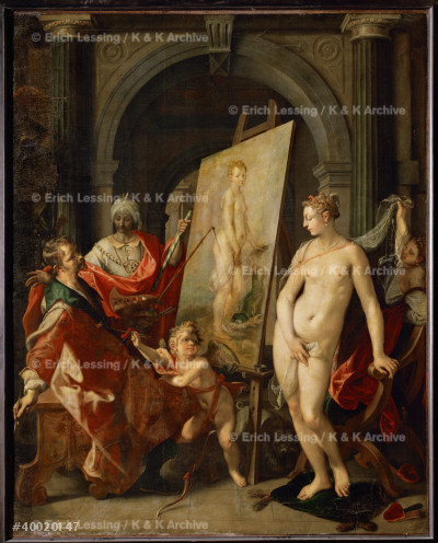 Apelles paints Campaspe, II. Around 1600               