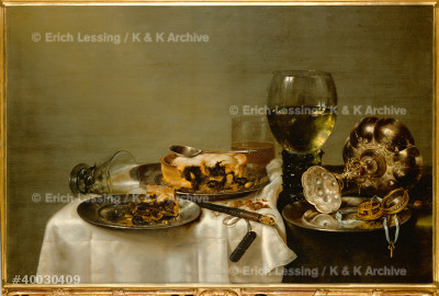 Breakfast table with bramble-pie.                      