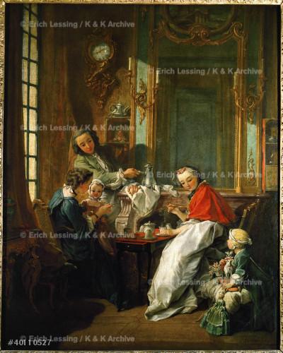 Le dejeuner - the luncheon. Oil on canvas (1739) 81.5 x 65.5 cm RF 926