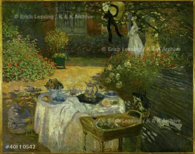 Le dejeuner (The lunch)                                    Oil on canvas, 1873-1874                                  160 x 201 cm