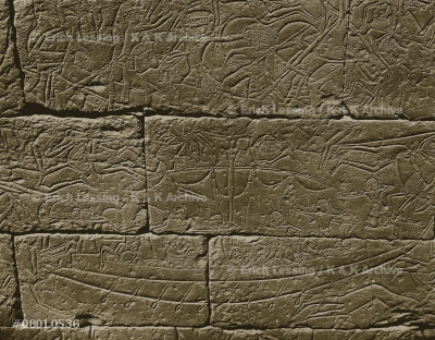 Warriors fighting on board of ships. Naval battle      against the Seapeople. Relief from the main temple     of Ramses III (1193-1162 BCE), north wall of the       outside temple walls, Medinet Habu, Thebes, Egypt.     20th Dynasty (1196-1080 BCE), New Kingdom