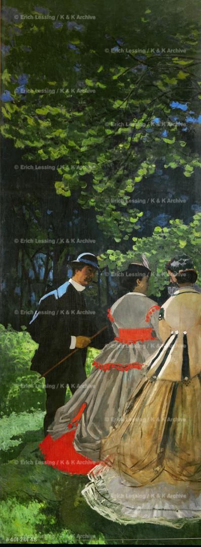 Dejeuner sur l'Herbe (Picknick) Fragment                       Oil on canvas, 1865                                    RF 1957-7