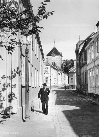 A quiet street in Tromsoe,1954