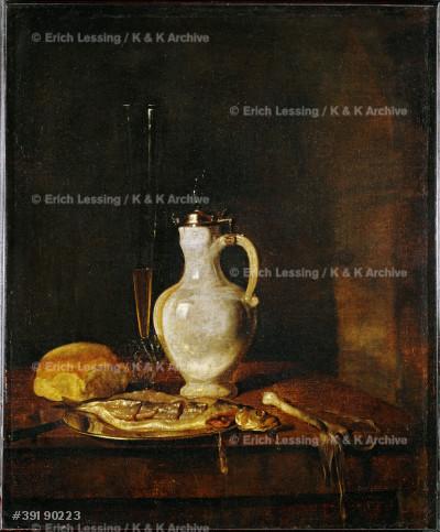 Le dejeuner des harengs. Canvas, 53 x 44 cm R.F. 373