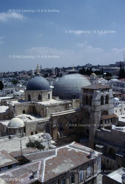 Jerusalem, the Church o the Holy Sepulchre.