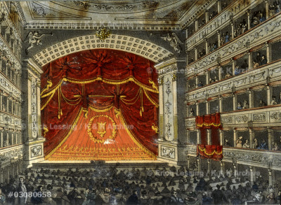 Interior of the Vienna Operahouse.