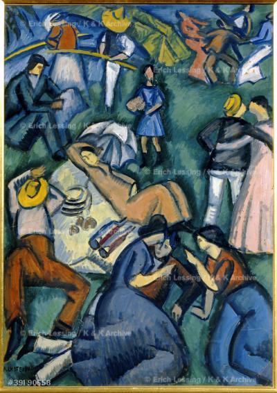 Scene champetre - A rural scene, 1911 Paper on canvas, 80 x 57 cm MNPL 205