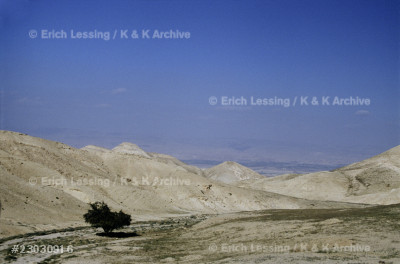 Desert of Juda. Road from Jericho to Inn of the Samaritan.