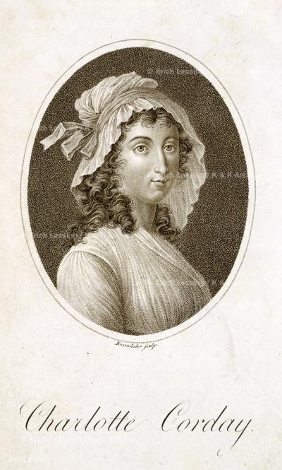 Charlotte Corday Charlotte Corday. Trag:odie in f:unf Akten, mit ch Hamburg, 1804 11747.e.7 frontispiece