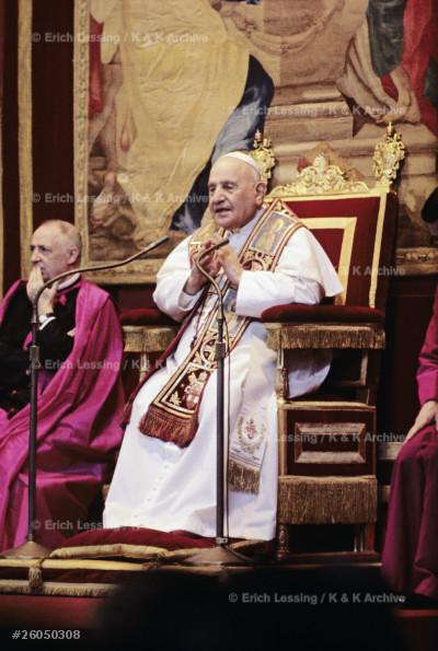 Pope John XXIII (1881-1963,Pope 1958-1963) during an audience in Castel Gandolfo.