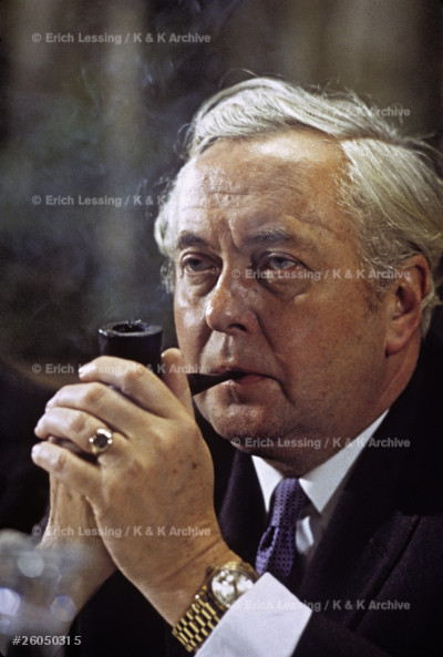 Harold Wilson, British statesman, Prime Minister,      Labour Party.