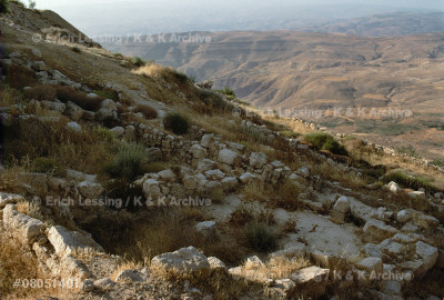 Mount Nebo, from where Moses is said to have           seen the promised land.