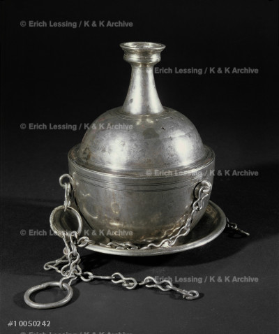 Incense burner.                                        Silver, from Pompeii.