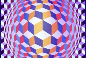 Musee Vasarely, Gordes, France