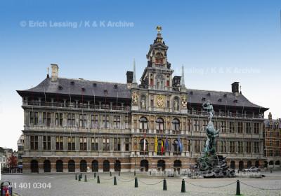 City hall, Antwerp, by Cornelis Floris,                1561-1566