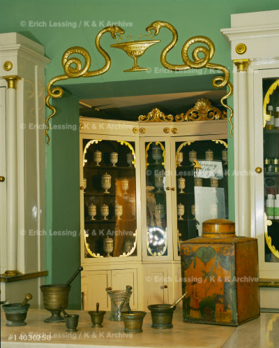 """Bagni di Lucca, the 18th century pharmacy              """"by appointment to the British Consulate""""."""