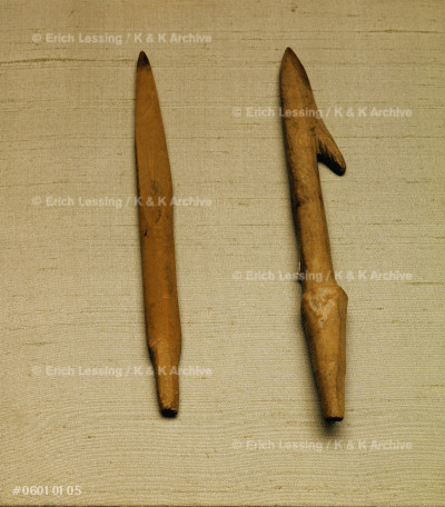 Fish spear and arrowhead                               