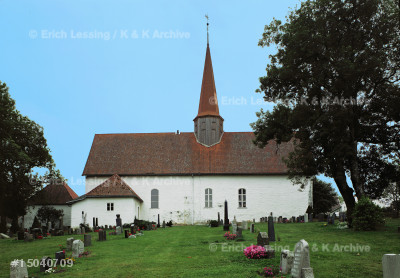 Skjeberg church, Skjeberg, Norway.                     Building began around 1050, the present building       dates from 1300, the tower from 1650.