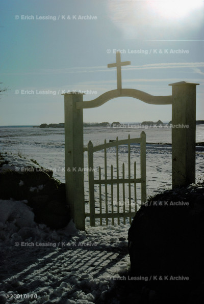 Gate of the churchyard at Morsum, Sylt Island, Germany