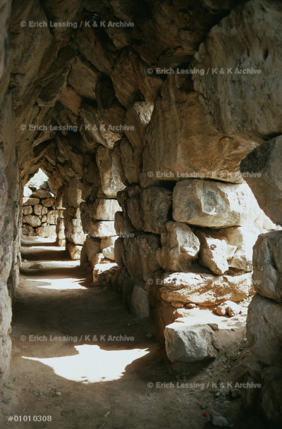 Fortifications of Tiryns (13th BCE).                   