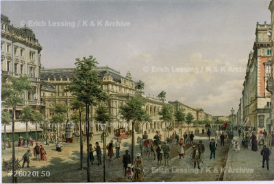 The Vienna Operahouse shortly after completion,        around 1870.                                           Inv. 31.448