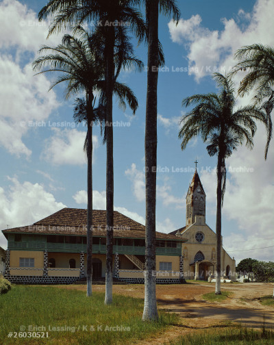 St. Mary's Cathedral in Libreville, Gabon. Built in    1864, when the Gabon was a French colony. It is the    oldest cathedral on the west coast of Africa.