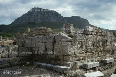 The Bema, the Court of Justice on the Forum of Corinth. 