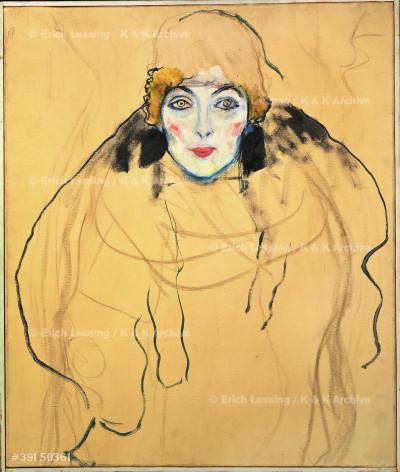 Frauenkopf - Female head, 1917                     67 x 56 cm