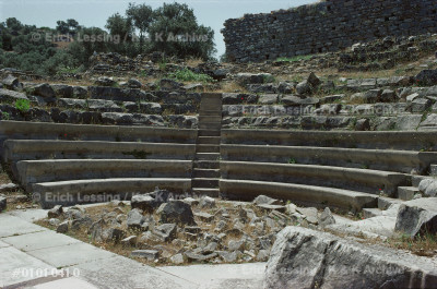 The theatre at Iasos. Stairs separated                 