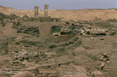 Elephantine Island as seen from                        the Cataract Hotel, Assuan, Egypt.                     20th