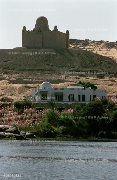 House and mausoleum                                    of the Aga Khan,                                       Assuan, Egypt.                                         20th