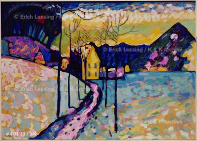 Winter Landscape I,Kochel,Bavaria,1909.                Oil on cardboard71,5 x 97,5 cm