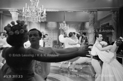 Life in post-war Austria: A waltz by Johann Strauss     performed by the Vienna Opera Ballet.                   Vienna, 1953