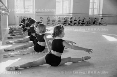 Young dancers of the Vienna Opera-ballet,Vienna,1953.