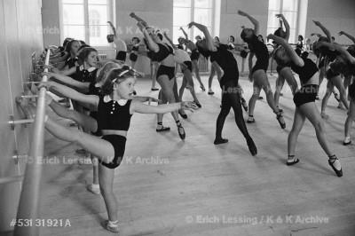 Young dancers of the Vienna Opera ballet. Vienna, 1953