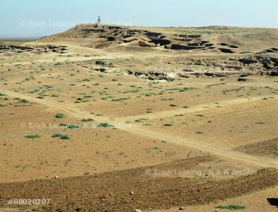 Inner area of Tel Mardikh, SyriaThe high ground in the distanceis the Acropolis of Ebla.