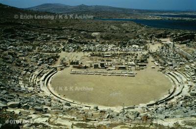 The theatre of Delos, Greece, has 26 tiers of seats,   