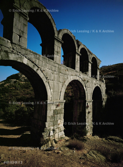The Roman Marnas aqueduct built by C.Sextilius Pollio, 