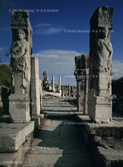 Gate of Herakles in the street of the Kuretes.         