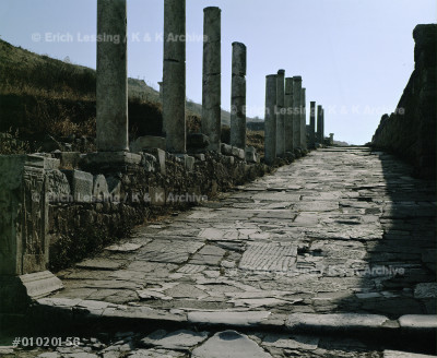 Clivus Sacer, part of the former Sacred Way, connects  