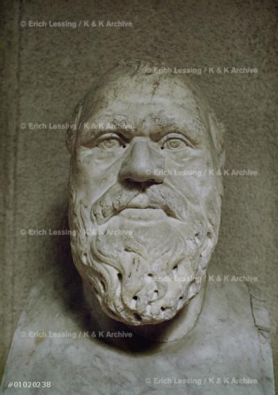 Archidamo of Sparta.Portrait bust                      Marble                                                 Inv.6156